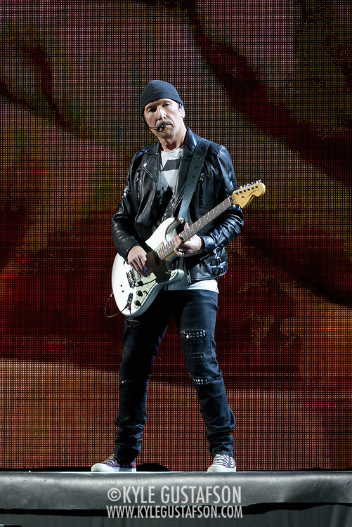 HYATTSVILLE, MD - June 20th, 2017 - U2's The Edge performs at FedEx Field as part of the band's 30th anniversary tour of The Joshua Tree. (Photo by Kyle Gustafson / For The Washington Post)