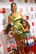 Kimora Lee Simmons and daughters, l to r: Aoki Lee and Ming Lee,  at the Kimora Lee Simmons celebration of the launch of her new fashion collections Fabulosity at JC Penny with party at Hiro on July 16, 2008..Fabulosity is a complete sportswear collection catering to authentic teen girls who want to show the world how fabulous they really are. The line hits JCPenney stores this week featuring tees, knit tops and sweaters, jeans, skirts, dresses, hoodies, jackets and outerwear. The collection embodies a lifestyle of confidence, beauty and fashion sense - at an even more fabulous price point ($29 to $108)..