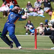 Brendon McCullum batting during the Otago Voltz V Wellington Firebirds HRV Cup match at the Queenstown Events Centre, Queenstown, New Zealand. 31st December 2011