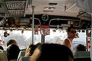 Greece: inside of a bus