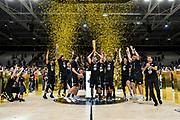 Premiazione Segafredo Virtus Bologna, Coppa, Trofeo<br /> Segafredo Virtus Bologna - A|X Armani Exchange Olimpia Milano<br /> Finale Playoff Scudetto Gara4<br /> LBA Legabasket Serie A UnipolSai 2020-2021<br /> Bologna, 11/06/2021<br /> Foto L.Canu / Ciamillo-Castoria