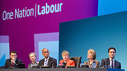 Ed Balls Speech <br /> Labour Party Conference<br /> day 2<br /> Brighton Centre, Brighton,  Sussex, Great Britain <br /> 23rd September 2013 <br /> <br /> Rt Hon Ed Balls MP<br /> Shadow Chancellor<br /> speech <br /> <br /> Stability and Prosperity <br /> <br /> watching speech <br /> <br /> Iain McNicol <br /> Margaret Beckett <br /> Chuka Umunna <br /> Angela Eagle<br /> Harriet Harman <br /> Ed Miliband <br /> <br /> <br /> <br /> Photograph by Elliott Franks <br /> contact:<br /> Tel: 07802 537 220 <br /> email: elliott@elliottfranks.com<br /> www.elliottfranks.com<br /> <br /> Agency space rates apply <br /> editorial use only <br /> 2013 © Elliott Franks