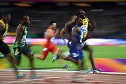 Usain Bolt of Jamaica in action - Mandatory byline: Patrick Khachfe/JMP - 07966 386802 - 05/08/2017 - ATHLETICS - London Stadium - London, England - Men's 100m Final - IAAF World Championships