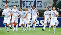 Milano, 05/04/2011<br /> Champions League/Inter-Schalke 04<br /> Gol Schalke 04: la festa di Edu e compagni