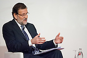 Spain's president Mariano Rajoy is interviewed by The Economist