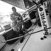 Leg 4, Melbourne to Hong Kong, day 14 on board MAPFRE, Pablo Arrarte. Photo by Ugo Fonolla/Volvo Ocean Race. 15 January, 2018.