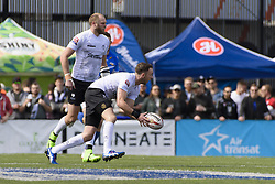 May 20, 2017 - Toronto, Ontario, Canada - RYAN BRIERLEY (27) and RICHARD WHITING (17) in action during the Rugby League game between  game between Toronto Wolfpack and Barrow Raiders (Credit Image: © Angel Marchini via ZUMA Wire)