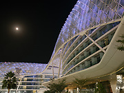The unsual design of Yas Island Viceroy Hotel.