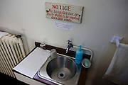 Priest's hand washing basin in Sacrisrty (Vestry) at St. Lawrence's Catholic church in Feltham, London.