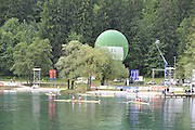 Bled, SLOVENIA, General View GV finish Area.  FISA World Cup, Bled. Held on Lake Bled.   Sunday  30/05/2010  [Mandatory Credit Peter Spurrier/ Intersport Images].Crew