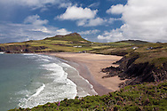 Whitesands Bay and St David's Head from the Pembrokeshire Coastal Path, Pembrokeshire, Wales, Uk