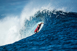Owen Wright (AUS) advanced to Semis after placing 1st in  Quarters 2 at the Tahiti Pro 2018 ,Teahupoo, French Polynesia