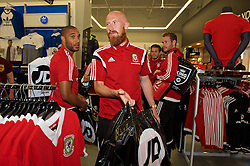 CARDIFF, WALES - Thursday, June 2, 2016: Wales' James Collins during a visit to a JD Sports store in Llantrisant. (Pic by Ian Cook/Propaganda)