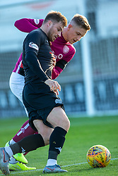 Clyde's David Goodwillie. Arbroath 0 v 2 Clyde, Tunnocks Caramel Wafer Challenge Cup 4th Round, played 12/10/2019 at Arbroath's home ground, Gayfield Park.