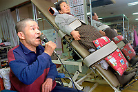 Original caption: Tokyo, Japan: Shisei home for the aged and senior day care center. August 1998 Tokyo, Honshu, Japanphoto credit ©Tom Wagner.<br /> image ©Tom Wagner 2006, Moral Rights Asserted<br /> www.tomwagnerphoto.com<br /> England phone +44-07793-459245