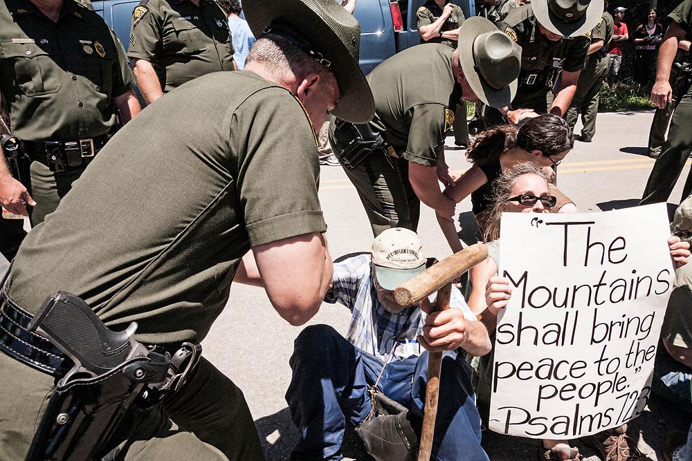 Arrested, Marsh Fork Elementary Protest