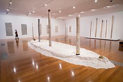 Aboriginal Yingapungapau or Ground (sand) sculptures at Gallery of Modern Art or GoMA on Southbank in Brisbane Queensland Australia