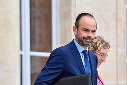 September 6, 2017 - Paris, Ile de France, France - French Minister of Labour Muriel Penicaud (R) and French Prime Minister Edouard Philippe leave after the weekly cabinet meeting at the Elysee presidential palace in Paris on September 6, 2017. (Credit Image: © Julien Mattia/NurPhoto via ZUMA Press)