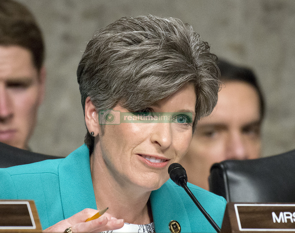 May 9, 2017 - Washington, District of Columbia, United States of America - United States Senator Joni Ernst (Republican of Iowa) questions US Department of Defense appointees as they testify on their respective nominations before the US Senate Armed Services Committee on Capitol Hill in Washington, DC on May 9, 2017..Credit: Ron Sachs / CNP (Credit Image: © Ron Sachs/CNP via ZUMA Wire)
