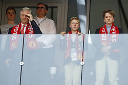 Belgium's King Philippe and his two sons Gabriel and Emmanuel during the 2018 FIFA World Cup Russia game, Belgium in vs Tunisia in Spartak Stadium, Moscow, Russia on June 23, 2018. Belgium won 5-2. Photo by Henri Szwarc/ABACAPRESS.COM