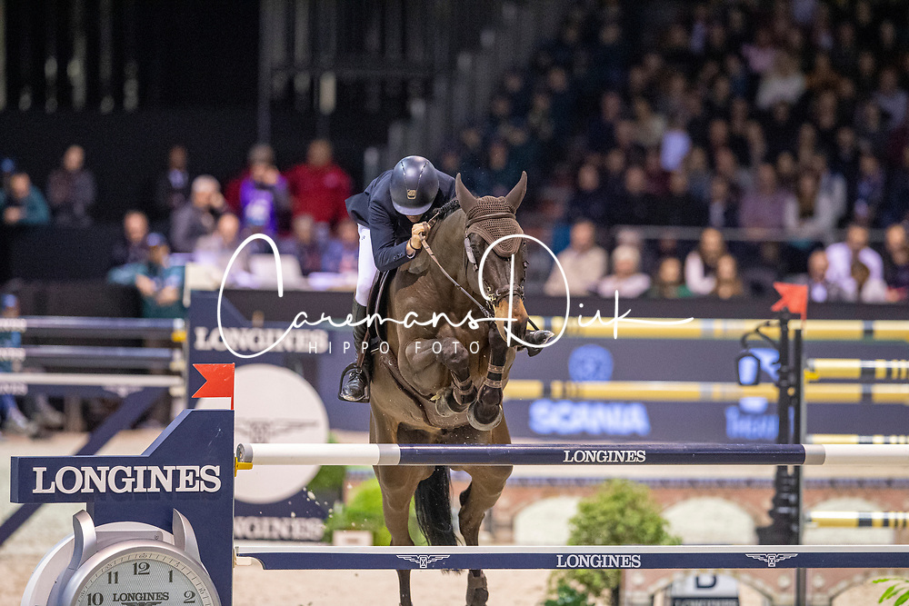 Vermeir Wilm, BEL, IQ van het Steentje<br /> Jumping International de Bordeaux 2020<br /> © Hippo Foto - Dirk Caremans<br />  08/02/2020