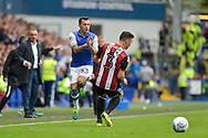 Sheffield Wednesday midfielder Ross Wallace (33) and Sheffield United defender Enda Stevens (3) during the EFL Sky Bet Championship match between Sheffield Wednesday and Sheffield Utd at Hillsborough, Sheffield, England on 24 September 2017. Photo by Adam Rivers.