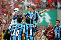 20091206: RIO DE JANEIRO, BRAZIL - Flamengo vs Gremio: Brazilian League 2009 - Flamengo won 2-1 and celebrated the 6th Brazilian Championship of its history. In picture: Ronaldo Angelim (Flamengo) scoring goal. PHOTO: Andre Durao/CITYFILES