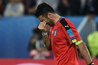 delusione Gianluigi Buffon dejection<br /> Paris 02-07-2016 Parc des Princes Football Euro2016 Germany - Italy/ Germania - Italia<br /> Round of 4, Foto Matteo Gribaudi/Image Sport/ Insidefoto