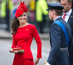 © Licensed to London News Pictures. 03/06/2012. London, UK. Kate Middleton and Prince WIlliam arriving Cadogan Pier to board the Royal Barge Gloriana during the Jubilee Pageant on the River Thames, London on June 03,2012 as part of The Diamond Jubilee celebrations. Great Britain is celebrating the 60th  anniversary of the countries Monarch HRH Queen Elizabeth II accession to the throne . Photo credit : Ben Cawthra/LNP