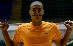 25-04-2013 VOLLEYBAL: NEDERLANDS MANNEN VOLLEYBALTEAM: ROTTERDAM<br /> Selectie Oranje mannen seizoen 2013-2014 / Nimir Abdelaziz<br /> ©2013-FotoHoogendoorn.nl