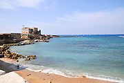 Sebastos Harbor of Caesarea, on the Mediterranea sea, Israel Built by Herod the great in the first century CE
