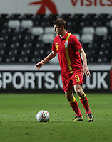 Pictured: Ben Davies of Wales. Wednesday 06 February 2013..Re: Vauxhall International Friendly, Wales v Austria at the Liberty Stadium, Swansea, south Wales.