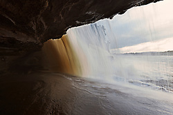 Clouds seen from inside of cave, Canaima National Park, Bolivar State, Venezuela