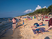 Rowy, 2018.08.04. Letnie kąpielisko Rowy Zachód o długość linii brzegowej 200 m i 1 zejściu na plażę.