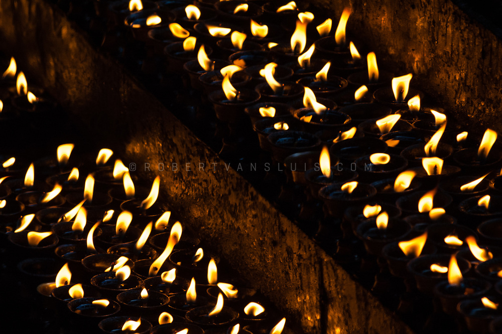 Butterlamps in Lhasa, Tibet, China. Photo © robertvansluis.com