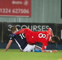 Rangers Ian Black over Falkirk's Craig Sibbald. Falkirk 1 v 3 Rangers, Scottish League Cup game played 23/9/2014 at The Falkirk Stadium.