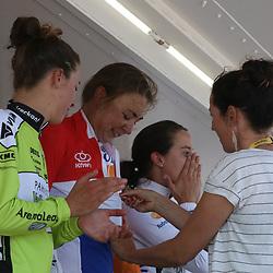 24-06-2016: Wielrennen: NK weg Vrouwen: Ouddorp   <br />OUDDORP (NED) wielrennen   <br />Rond de Brouwersdam streden de wielervrouwen om de Nederlandse titel. Anouska Koster is Nederlands kampioene van Nederland geworden. De Friezin van Rabo-Liv versloeg medevluchtster Janneke Ensing in de sprint. Marianne Vos werd derde.