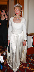 LADY COLIN CAMPBELL at the annual St.Petersburg Ball in aid of Friends of Russian Children and Children's Fire and Burn Trust, held at The Cafe Royal, 68 Regent Street, London on 7th February 2003.