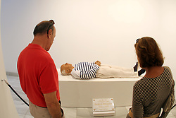 May 4, 2017 - The artist Eugenio Merino wanted to respect scrupulously the height of 1.64 meters that Picasso had, shaped his head with all the photos of the artist he had and accompanied the body of a plate in Carrara marble with the inscription ''Here rests Pablo Picasso' (Credit Image: © Fotos Lorenzo Carnero via ZUMA Wire)