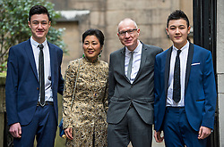 © London News Pictures. 05/03/2016. London, UK. ROBERT THOMSON and family attends a ceremony to mark the wedding of Rupert Murdoch and Jerry Hall held at St Brides Church on Fleet Street,  central London on February 05, 2016. . Photo credit: Ben Cawthra /LNP
