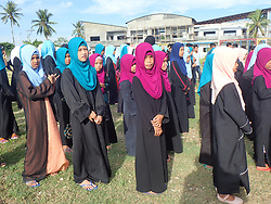 June 10, 2017 - Cotabato City, Philippines - Around 90 Muslim orphans who are mostly victims of war and conflict in Mindanao celebrates World Orphans Day in Cotabato City during the 15th day of Ramadan. (Credit Image: © Sherbien Dacalanio/Pacific Press via ZUMA Wire)