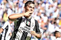 esultanza gol Paulo Dybala goal celebration<br />  Torino 21-05-2017 Juventus Stadium Football Calcio Serie A 2016/2017 Juventus - Crotone .<br /> Foto Image Sport / Insidefoto