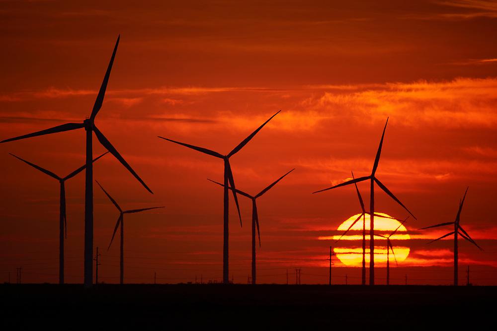 Duke Energy's Los Vientos Wind Turbine Farms in Texas.