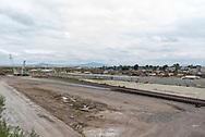 Nextlalpan, Estado de México. 06 octubre 2021. Colocación de vías del tren suburbano en el municipio de Nextlalpan como parte de las conexiones de transporte entre el Aeropuerto Internacional Felipe Ángeles y la Ciudad de México.