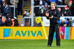 Worcester Warriors Backs Coach Sam Vesty during the pre match warm up - Mandatory by-line: Craig Thomas/JMP - 10/02/2018 - RUGBY - Sandy Park Stadium - Exeter, England - Exeter Chiefs v Worcester Warriors - Aviva Premiership