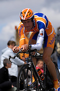 France - Tuesday, Jul 08 2008:  Pieter Weening (Ned) Rabobank finished in 176th place on stage 4, 6' 19'' down on the winner Stefan Schumacher. The stage was a 29.5km time trial starting and ending in Cholet.    (Photo by Peter Horrell / http://www.peterhorrell.com)