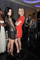 Left to right, LIBERTY ROSS and the HON.SOPHIA HESKETH at a party to celebrate the 15th birthday of Vogue.com held at W Hotel, Leicester Square, London W1 on 17th February 2011.