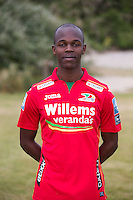 20150626 - OOSTENDE, BELGIUM: Oostende's Knowledge Musona pictured during the 2015-2016 season photo shoot of Belgian first league soccer team KV Oostende, Friday 26 June 2015 in Oostende. BELGA PHOTO KURT DESPLENTER