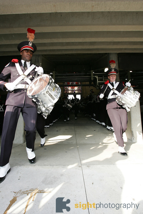 COLUMBUS, OH - November 18: The Ohio State Marching Band takes the field on October 18, 2006 at Ohio Stadium in Columbus, Ohio before playing The Ohio State Buckeyes take on the Michigan Wolverines. The Buckeyes beat the Wolverines 42-39. Credit: Bryan Rinnert