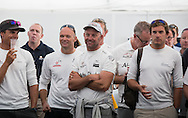 The Artemis Challenge at Aberdeen Asset Management Cowes Week 2014. <br /> Abu Dhabi team and skipper Ian Walker<br /> FREE for editorial use. Credit: Lloyd Images